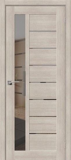 Межкомнатная дверь Порта-27 Cappuccino Veralinga/Mirox Grey - фото 15155