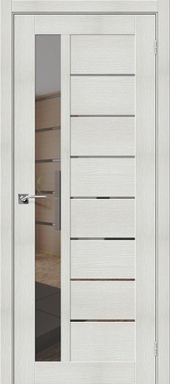 Дверь межкомнатная ЭКО Порта-27 Bianco Veralinga Mirox Grey - фото 15156