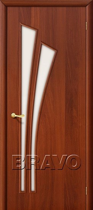 Двери Браво, Bravo, ламинированные,Межкомнатные, 4С Л-11 (ИталОрех) - фото 4542