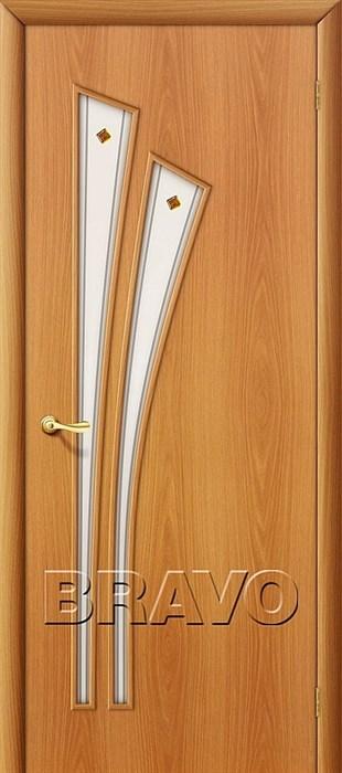 Двери Браво, Bravo, ламинированные,Межкомнатные, 4Ф Л-12 (МиланОрех) - фото 4543
