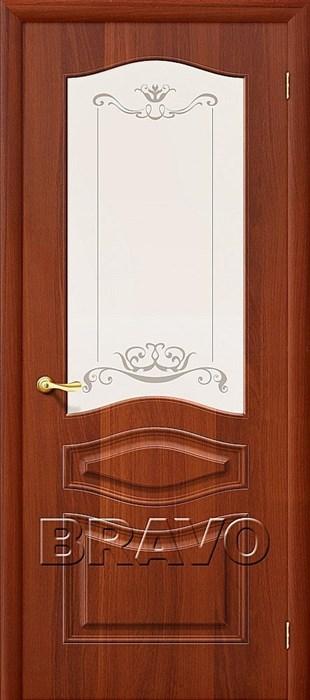 Модена П-11 (ИталОрех)/ст,Межкомнатная дверь ПВХ, Браво,Bravo - фото 4579
