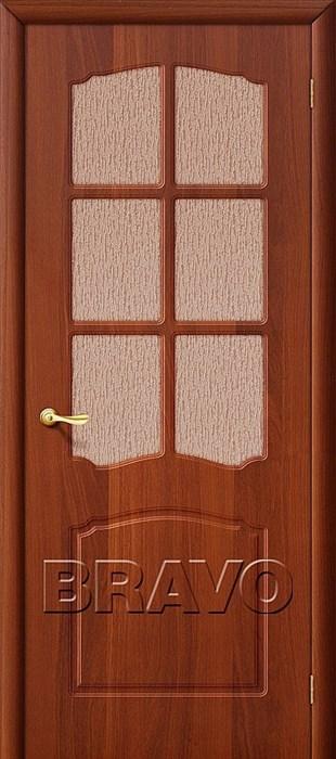 Дверь ПВХ Альфа П-11, (ИталОрех)/ст - фото 4586