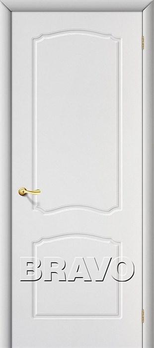 Межкомнатная дверь ПВХ, Альфа  П-23 (Белый) - фото 4590