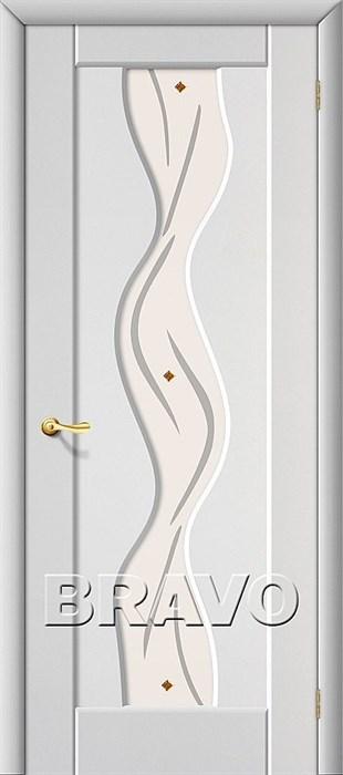 Двери Браво,BRAVO, ПВХ, Межкомнатные, Вираж Плюс П-23 (Белый)/ст - фото 4628