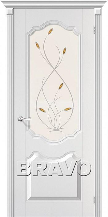 Межкомнатные двери, Перфекта П-24 (Белый)/ст - фото 4948