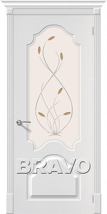 Межкомнатные двери, Скинни-33 П-24 (Белый) - фото 6197