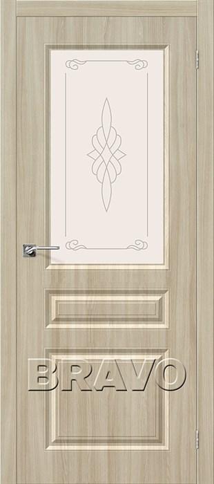 Двери Скинни-15, П-34 (Шимо Светлый)/ст, Межкомнатные двери - фото 6337