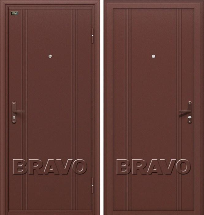 Двери Браво Оптим Door Out 101 Антик Медь, дверь входная Металлическая , (Браво, Bravo) - фото 6428