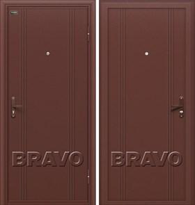 Двери Браво Оптим Door Out 101 Антик Медь, дверь входная Металлическая , (Браво, Bravo)